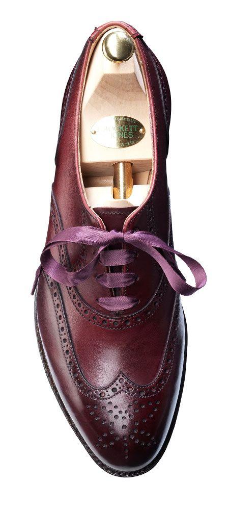 Jenny Burgundy Calf, Ladies Brogue Shoe | Crockett & Jones