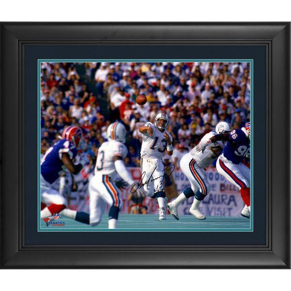 """Dan Marino Miami Dolphins Fanatics Authentic Framed Autographed 16"""" x 20"""" Horizontal vs. Buffalo Bills Photograph - $329.99"""