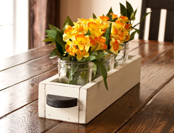 Wooden Table Caddy/Centerpiece With Handles by BrytaegaInspired on Etsy https://www.etsy.com/listing/247500072/wooden-table-caddycenterpiece-with
