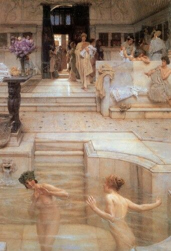 Sir Lawrence Alma-Tadema (Sir Lawrence Alma Tadema) (1836-1912) A Favorite Custom Oil on canvas