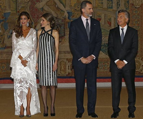 King Felipe and Queen Letizia host a reception for President of Argentina