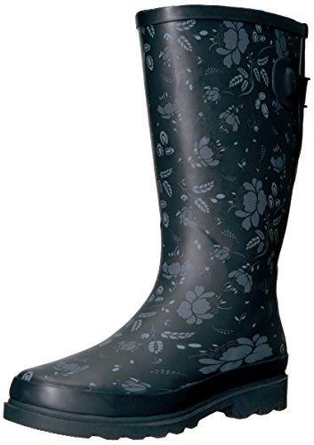 Sloggers botas de agua para mujeres, rojo paisley, US 6 / EU 36,5