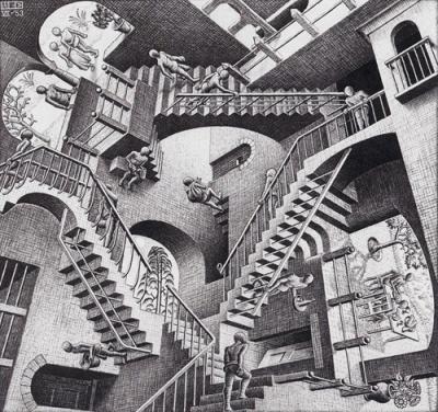 M.C Escher , Relativity