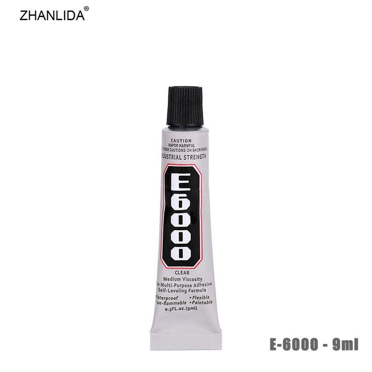 ZHANLIDA  E6000 9ml Epoxy Resin Rhinestone Sealant For Jewelry Rhinestone Glass Mobile Glue Gun