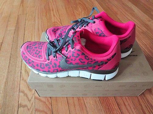 NEW Nike Free 5 0 Leopard Sz 8 5 Fireberry Pink Womens runnning US seller