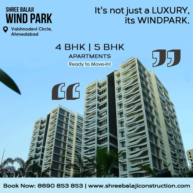 It's not just a luxury, its Windpark. 4/5 BHK apartments