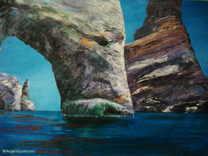 ΜΗΛΟΣ ΙΙ, λάδι σε καμβά, 70x50cm, 2010 MILOS ΙI, oil on canvas, 70x50cm, 2010