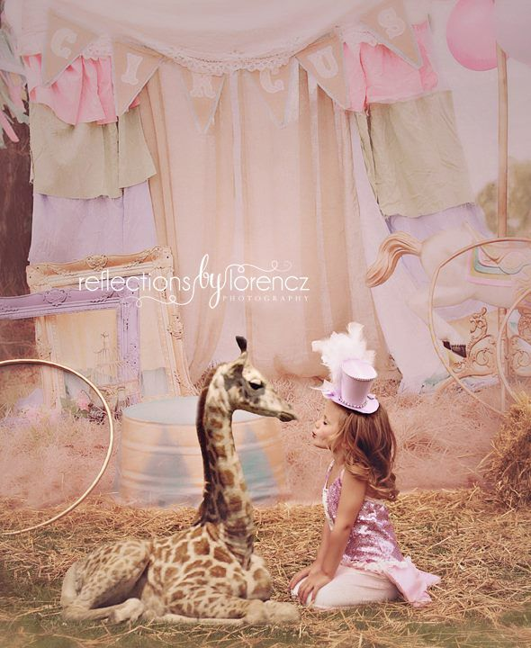 Cirque Du Pastel - 60x80-circus outdoor chic carousel BABY DREAM BACKDROPS