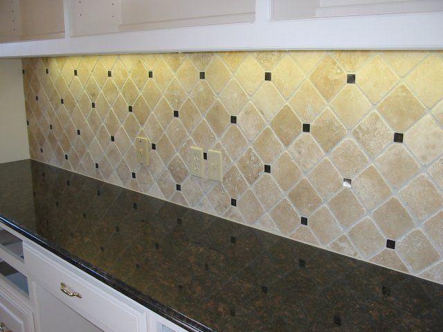 Tumbled marble backsplash 4x4 crema tumbled marble with for 4x4 kitchen ideas
