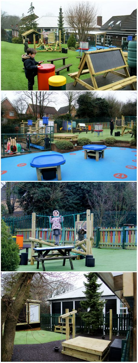 We resurfaced their space to make it all-weather and to make sure they had opportunities for outdoor play and learning all year round. New resources were added to introduce new experiences for sensory play, physical development, musical and pretend play, whilst our Tuff Spot tables allow for indoor activities such as drawing and painting to be taken outside. To provide free-flowing play from classroom to outdoor playground we installed our Timber Canopy.