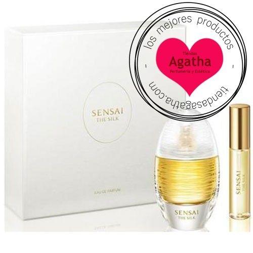 Cofre regalo de edición limitada del perfume femenino de la marca Sensai, The Silk Eau de Parfum Spray
