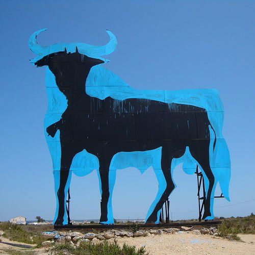 Spanish symbol of recession. Street Art in Santa Pola, Alicante