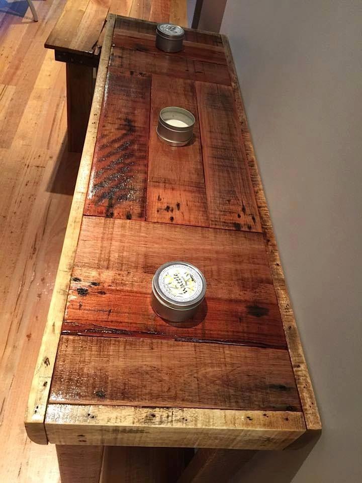 Mesa arrimo pallets pallets pinterest pallets for Reclaimed wood furniture bend oregon