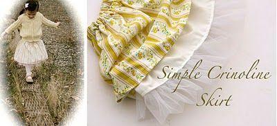 Girl's Crinoline Skirt Tutorial from Ruffles and Stuff (via Somewhat Simple blog)