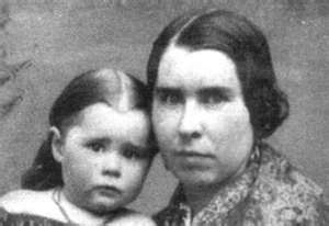Lizzie and Emma's mother here with Emma.   It's remarkable how much Lizzie looked like her mother. Lizzie did not take the death of her mother well. At the time Andrew Borden was a mortician and prepared her body for burial in the home, a scene which Lizzie witnessed.