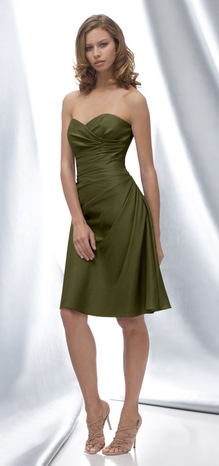 33 best images about bridesmaid dresses autumn on for Olive green wedding dresses