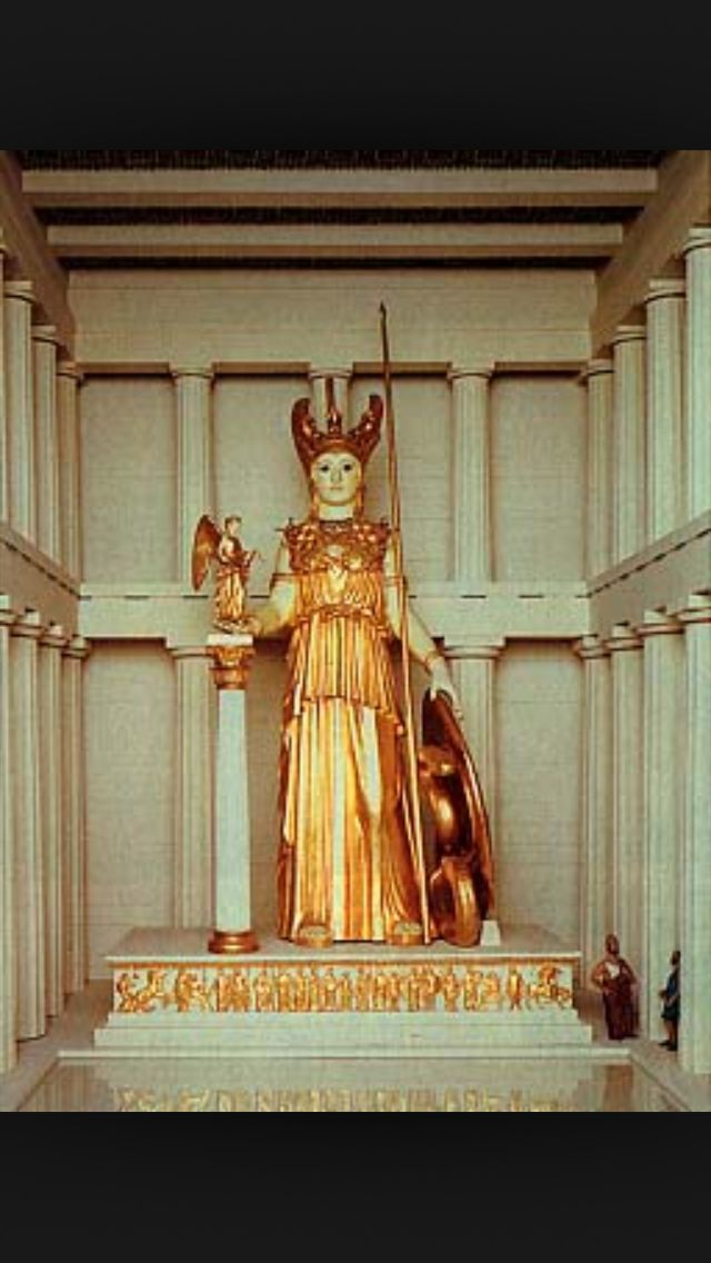 Model Of The Athena Parthenos By Phidias Athena Parthenos