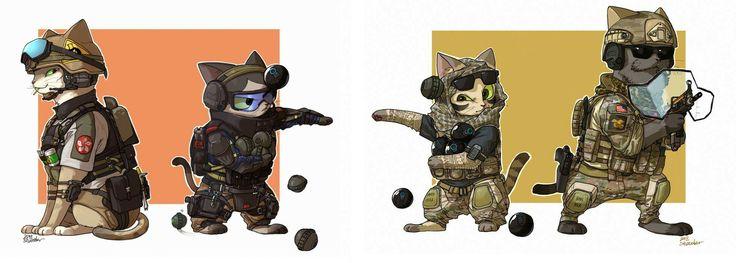 SDU Cat Operatives:Ying and Lesion vs Navy's SEAL Cat Operatives:Valkriye and BlackBeard Cat Fight