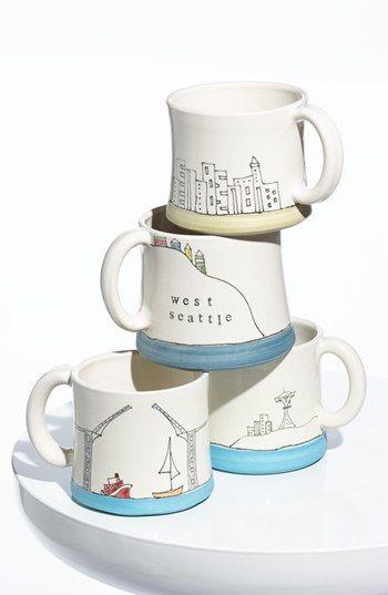 Seattle Cityscape Mugs - Downing Pottery