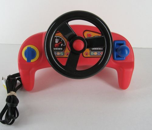 Little Tikes Plug N Play Race Car Driver Video Game Steering Wheel | eBay
