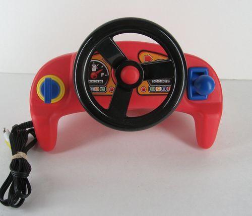 Little Tikes Plug N Play Race Car Driver Video Game Steering Wheel | eBay