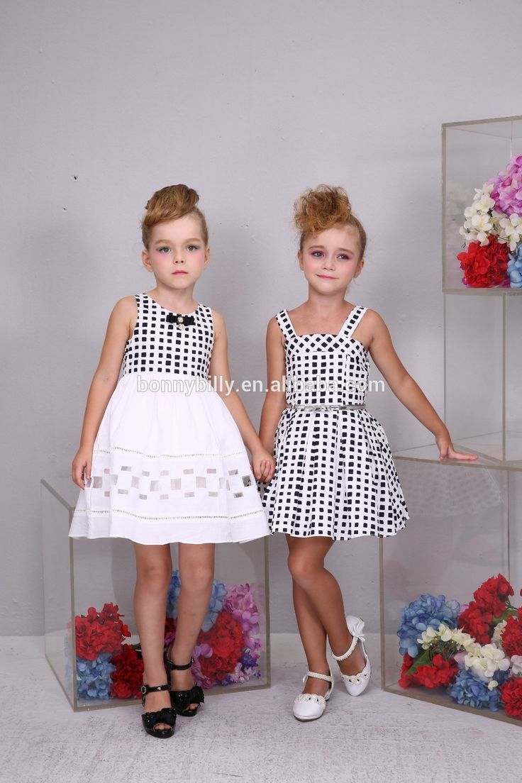 Grid children clothing maxi dress for girls of 12 years old