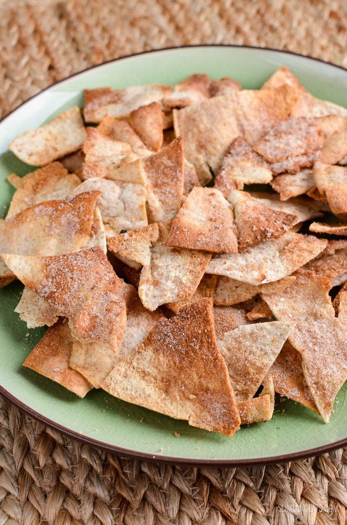 Looking for a syn free treat? Then look no further, these Cinnamon Sugar Pita Chips are yummy and make a perfect snack.