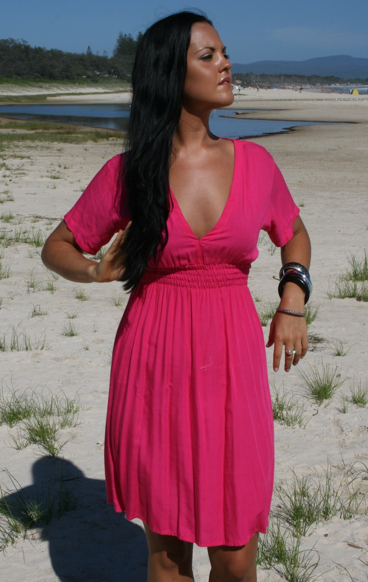 "Byron Bay clothing label Lady WATEGO -www.ladywatego.com   ""Hayman"" dress  in hot pink..."