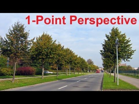Linear Perspective Drawing Lesson 3/6 - One Point Perspective Definition - Perspective Cityscape Art - YouTube