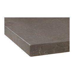 OXSTEN Måttbeställd bänkskiva, matt mörkgrå matt mörkbrun, marmormönstrad kompositsten - matt mörkgrå/marmormönstrad kompositsten - 63.6-125x3.8 cm - IKEA
