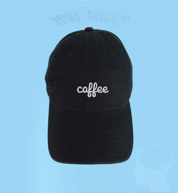 COFFEE Dad Hat Embroidered Baseball Cap Low by IMPURETHOUGHTS