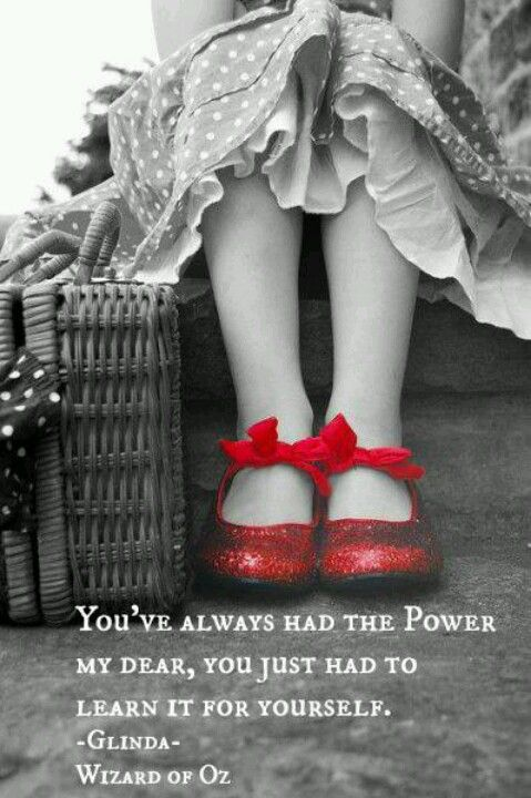 red shoes wizard of oz quote
