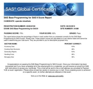 The SAS Base Certification (A00-211) Prep Guide is now included in our Base and Advanced Programming bundles to help you prepare for your SAS Certification success!. SAS Base Certification questions and exam syllabus gives you enough insight on how to crack exam with smart preparation. https://www.academia.edu/30069338/A00-211_Study_Guide_and_How_to_Crack_Exam_on_SAS_Base_Programmer