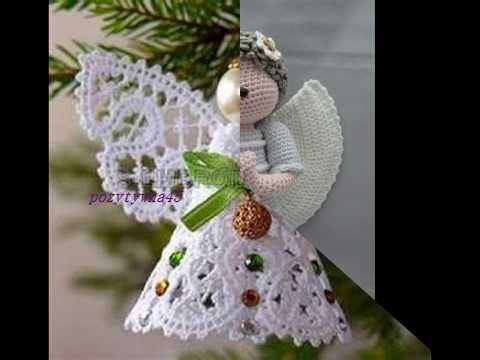Aniołki szydełkowe na Choinkę - YouTube