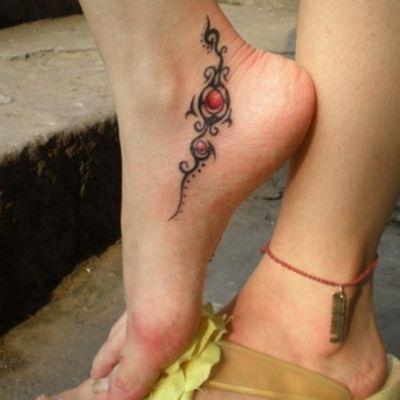 cute tribal foot tattoos Cute