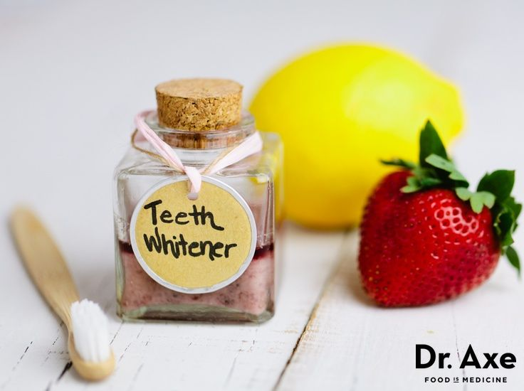 Homemade Teeth Whitener  http://www.draxe.com #homemade #DIY #health #natural