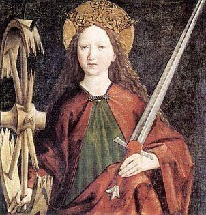 Saint Catherine of Alexandria   La Fleur de Lys too: St. Catherine of Alexandria, voice of La Pucelle patroness of philosophers and preachers