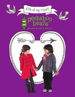 Peekaboo Beans Fall 2013 Collection- With All My Heart Look Book.  Visit www.peekaboobeans.com to shop for your Beans today!