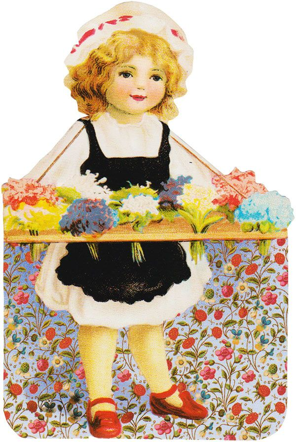 clipart girl holding flowers - photo #32