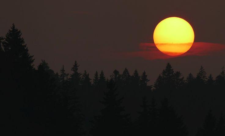 Coucher de soleil à laVraconnaz. Mars2015