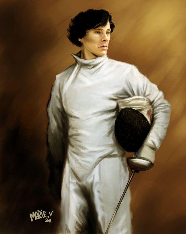 Sherlock in fencing attire :)