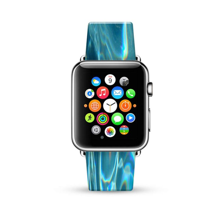 Apple Watch Band 38mm women, Apple Watch band 42mm for series 1, 2 & 3, Apple Watch Strap genuine Calf Leather Wrist Band Abstract Art water by HiveWorkshop on Etsy https://www.etsy.com/listing/508382490/apple-watch-band-38mm-women-apple-watch