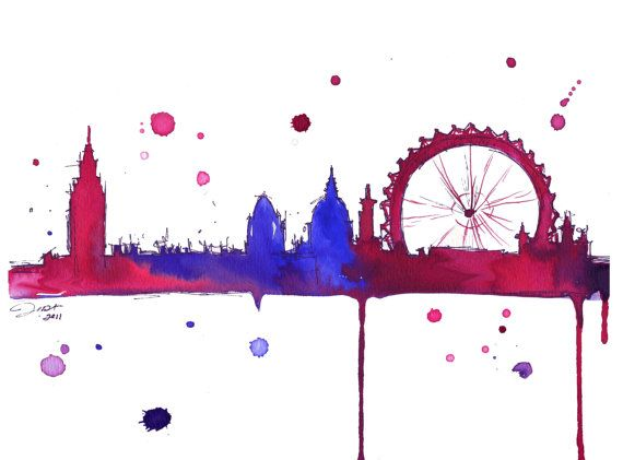 Watercolor Travel Illustration  London Baby by JessicaIllustration