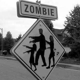 Zombie sign #halloween