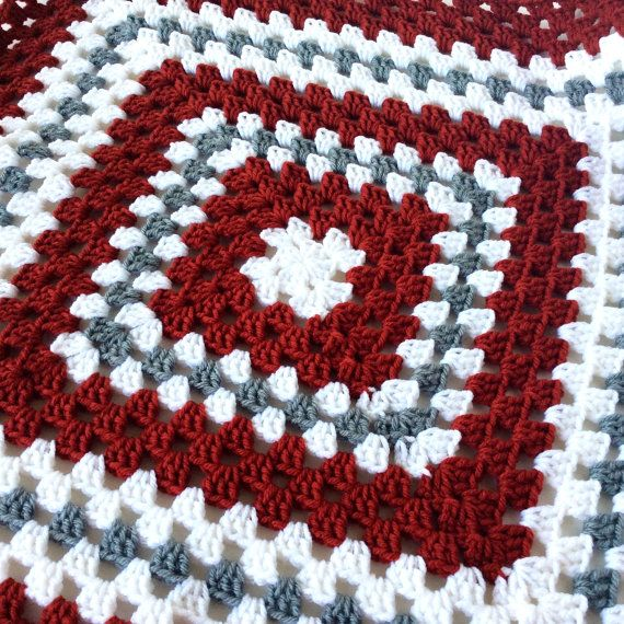 Alabama Crimson Tide Baby Security Blanket | Roll Tide Baby Blanket | Crimson and White Nursery Blanket | Alabama Lovey