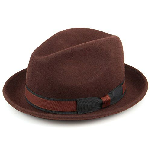 Hawkins Brown 100% Wool trilby hat with contrast band and side bow - (58cm) Hawkins http://www.amazon.co.uk/dp/B00VV7DHEW/ref=cm_sw_r_pi_dp_vBi3wb1M591YD