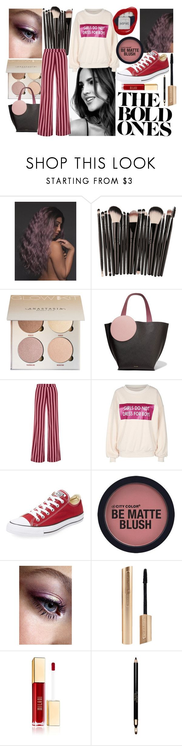 """These Bold Stripes"" by couturerouge ❤ liked on Polyvore featuring Roksanda, AlexaChung, Converse and Clarins"