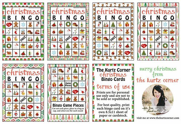 Free Printable Christmas BINGO Cards from The Kurtz Corner