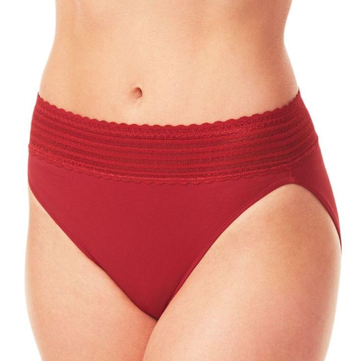 Warner's No Pinching. No Problems. Lace Hi-Cut Panty 5109 - Women's, Size: