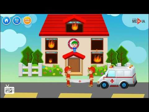 Camion dei pompieri, Pompieri cartonia, Ambulanza cartone